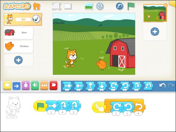 Aprende programación con ScratchJR